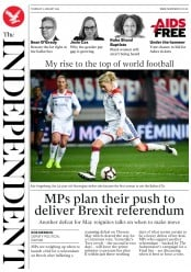 The Independent (UK) Newspaper Front Page for 10 January 2019