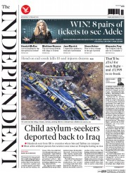 The Independent (UK) Newspaper Front Page for 10 February 2016