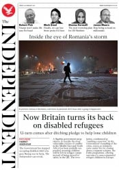The Independent (UK) Newspaper Front Page for 10 February 2017