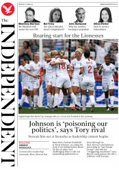 The Independent (UK) Newspaper Front Page for 10 June 2019