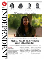 The Independent front page for 10 August 2020