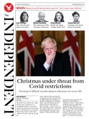 The Independent front page for 10 September 2020