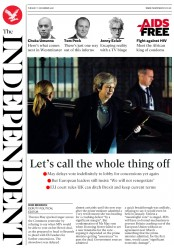 The Independent (UK) Newspaper Front Page for 11 December 2018