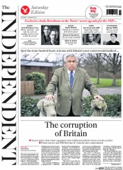 The Independent Newspaper Front Page (UK) for 11 January 2014