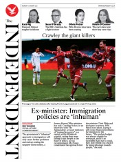 The Independent front page for 11 January 2021