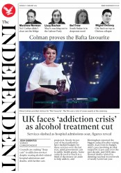 The Independent () Newspaper Front Page for 11 February 2019
