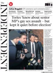 The Independent (UK) Newspaper Front Page for 11 March 2014