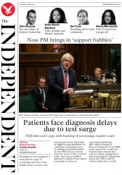 The Independent (UK) Newspaper Front Page for 11 June 2020