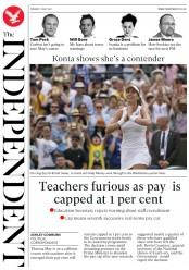 The Independent (UK) Newspaper Front Page for 11 July 2017