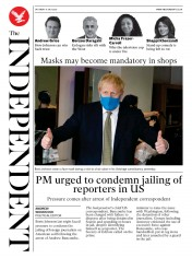 The Independent front page for 11 July 2020