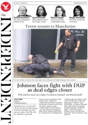 The Independent (UK) Newspaper Front Page for 12 October 2019