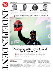 The Independent front page for 12 October 2020
