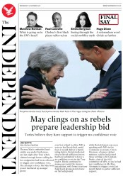 The Independent (UK) Newspaper Front Page for 12 December 2018