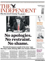 The Independent (UK) Newspaper Front Page for 12 January 2011
