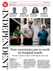 The Independent front page for 12 January 2021