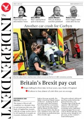 The Independent (UK) Newspaper Front Page for 12 May 2017