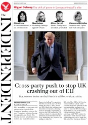 The Independent () Newspaper Front Page for 12 June 2019
