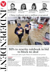 The Independent (UK) Newspaper Front Page for 12 August 2019