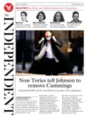 The Independent front page for 13 November 2020