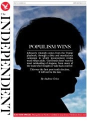 The Independent (UK) Newspaper Front Page for 13 December 2019