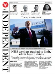 The Independent front page for 13 January 2021