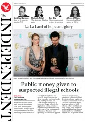 The Independent (UK) Newspaper Front Page for 13 February 2017