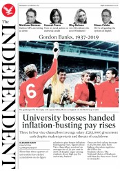 The Independent () Newspaper Front Page for 13 February 2019