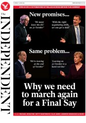 The Independent (UK) Newspaper Front Page for 13 June 2019