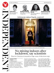 The Independent front page for 14 November 2020