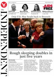 The Independent (UK) Newspaper Front Page for 14 December 2018