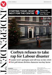 The Independent () Newspaper Front Page for 14 December 2019