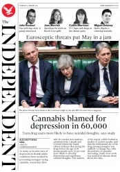 The Independent (UK) Newspaper Front Page for 14 February 2019