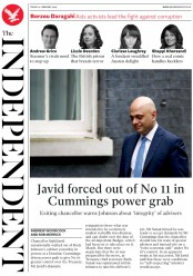 The Independent (UK) Newspaper Front Page for 14 February 2020