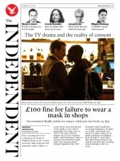 The Independent front page for 14 July 2020