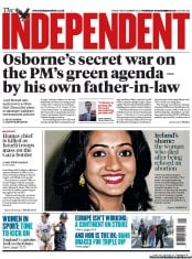 The Independent () Newspaper Front Page for 15 November 2012