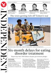 The Independent () Newspaper Front Page for 15 November 2017
