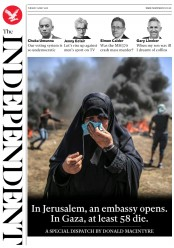 The Independent (UK) Newspaper Front Page for 15 May 2018