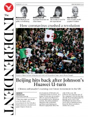 The Independent front page for 15 July 2020