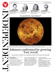 The Independent front page for 15 September 2020