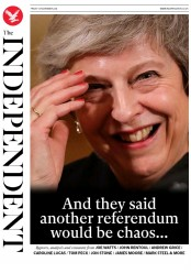 The Independent (UK) Newspaper Front Page for 16 November 2018
