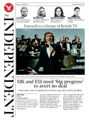 The Independent front page for 16 November 2020