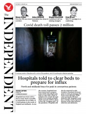 The Independent front page for 16 January 2021