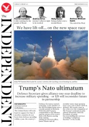The Independent (UK) Newspaper Front Page for 16 February 2017