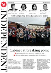 The Independent () Newspaper Front Page for 16 March 2019