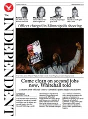 The Independent () Newspaper Front Page for 16 April 2021