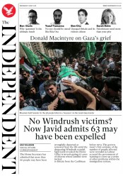 The Independent (UK) Newspaper Front Page for 16 May 2018