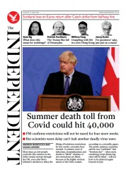 The Independent () Newspaper Front Page for 16 June 2021