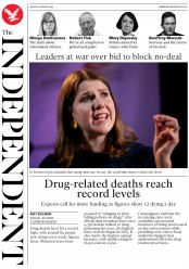 The Independent (UK) Newspaper Front Page for 16 August 2019
