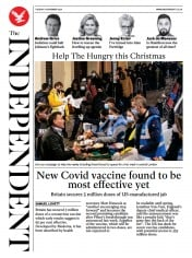 The Independent front page for 17 November 2020