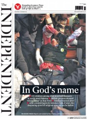 The Independent (UK) Newspaper Front Page for 17 December 2014